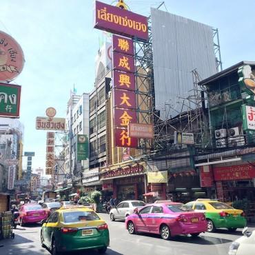 chinatown main street in bangkok