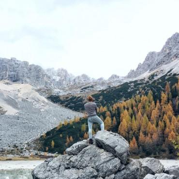 autumn dolomite landscape