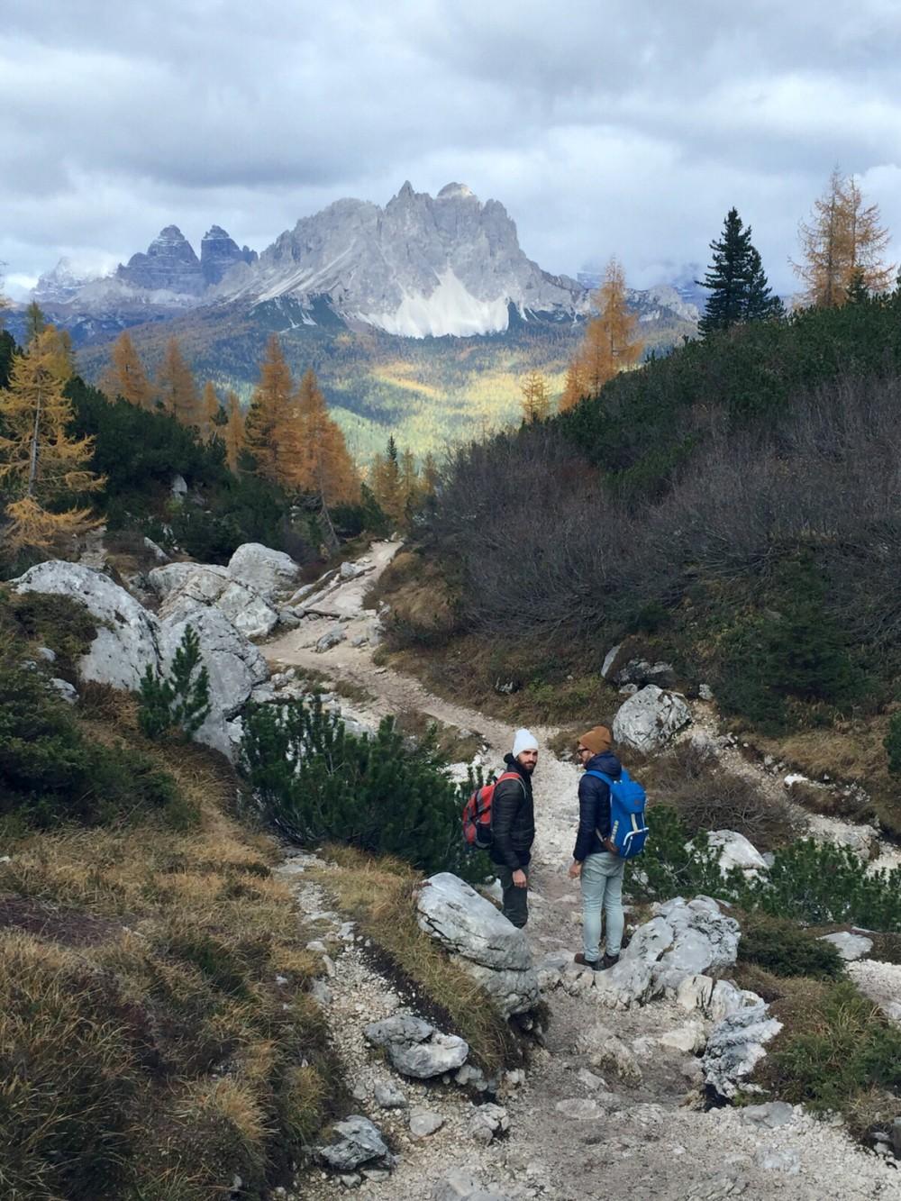 beautiful dolomite mountains