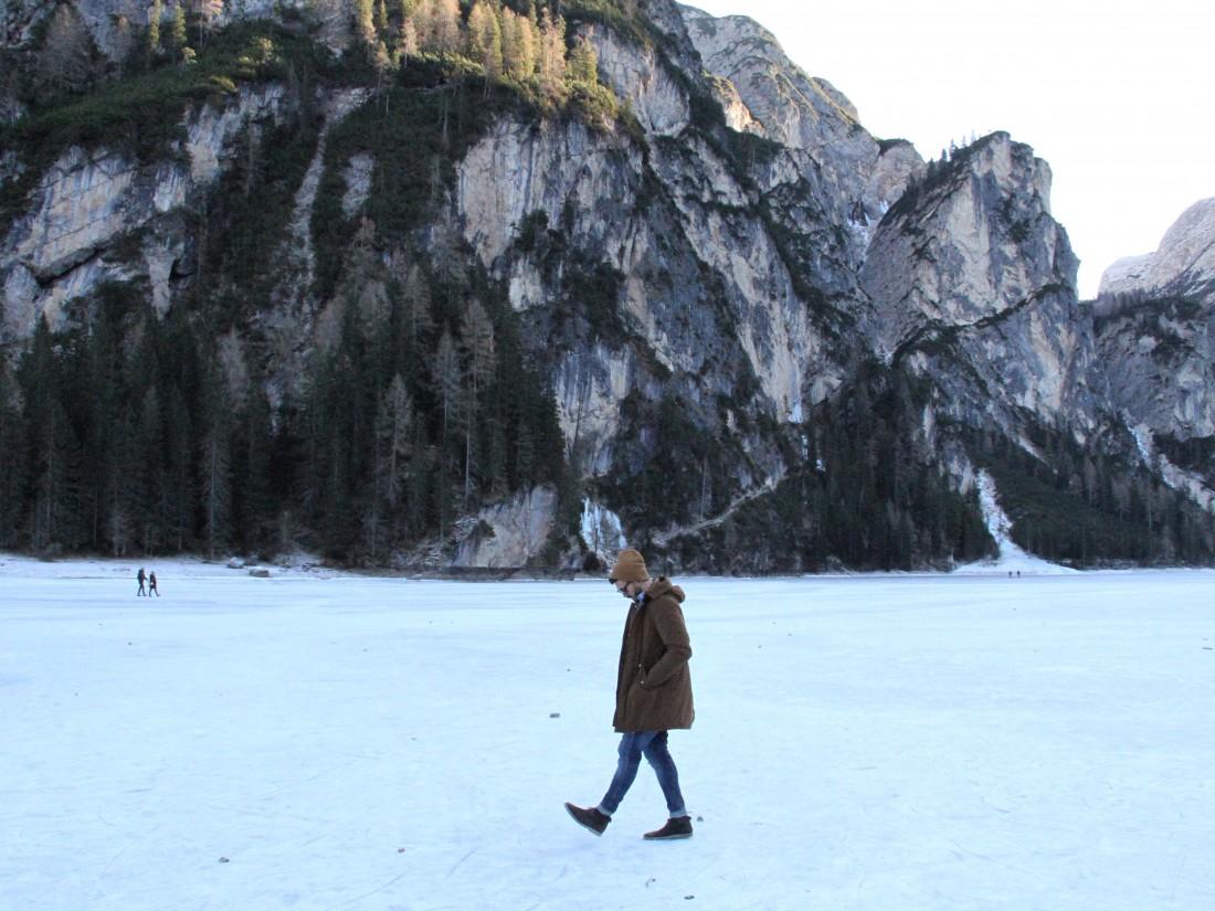 walking on the lake