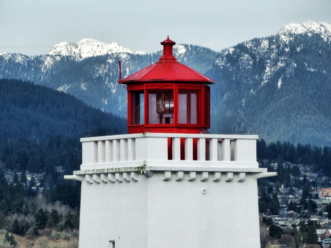 red lighthouse vancouver
