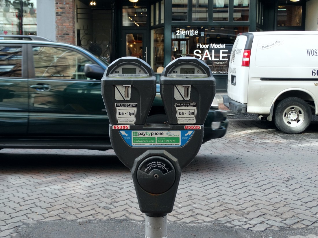 parking meter vancouver