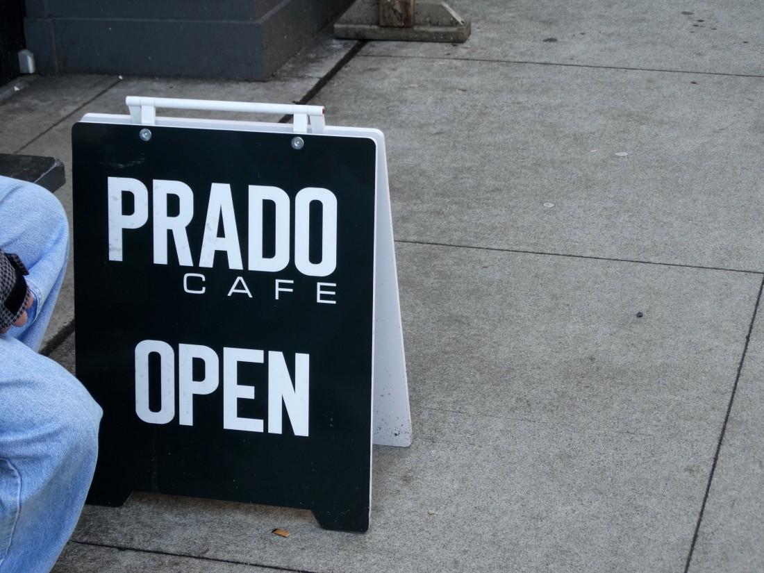 prado cafe open