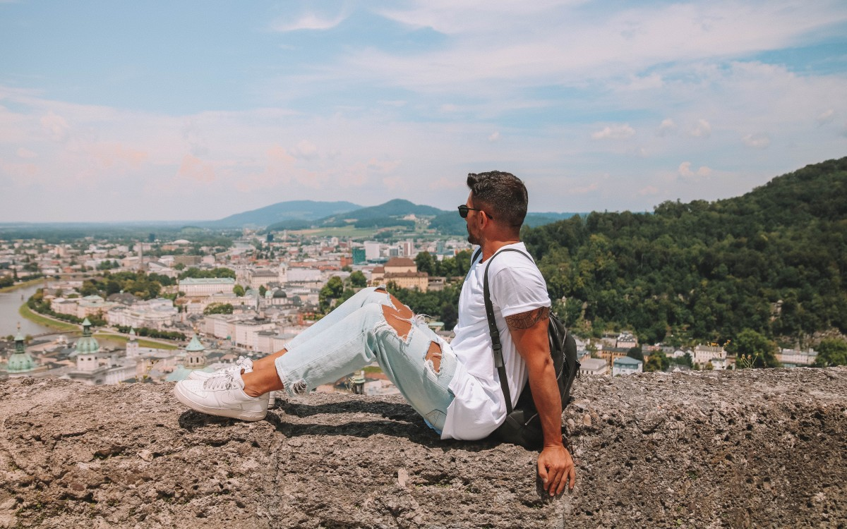 vista dalla fortezza salisburgo
