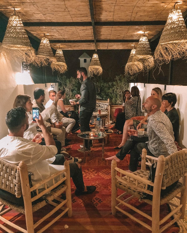 dinner at riad yamina