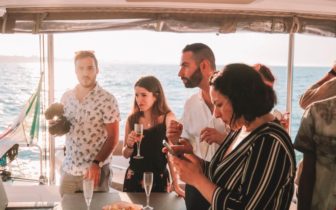 aperitivo in barca squadra food & wine