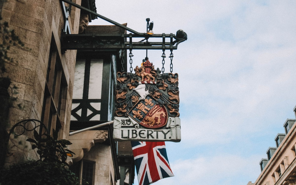 liberty london sign