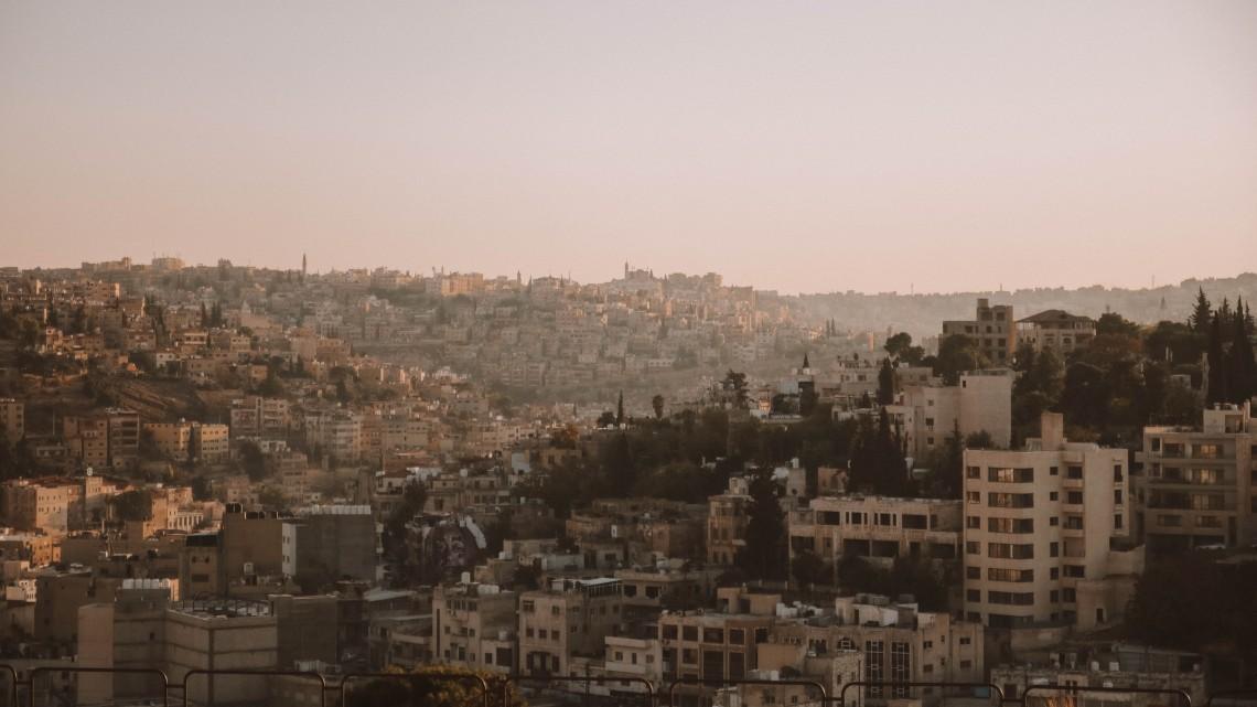 amman giordania tramonto