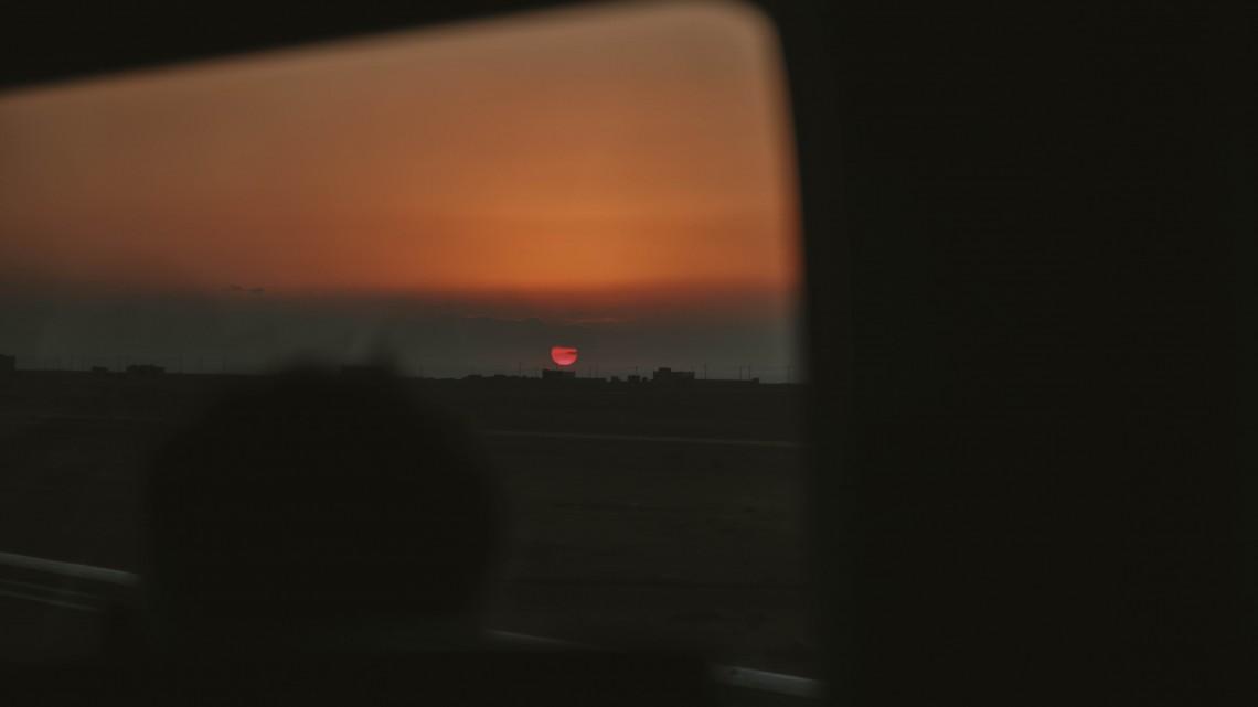 tramonto on the road giordania