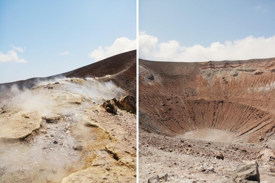 trekking a vulcano