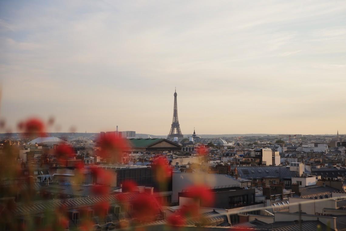 vista tour eiffel dal rooftop galeries lafayette
